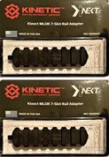 KINETIC Double 7-Slot Easy Detach MLOK Rail Section 2-PACK KIN5-200