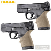 HOGUE S&W M&P SHIELD 45 Kahr P9 P40 CW9 CW40 GRIP SLEEVE 2-PACK 18303 FDE