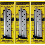 Chip McCormick 1911 XP 9mm 10 Round MAGAZINE 3-PACK 19003 SS