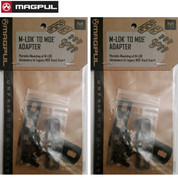 Magpul Industries M-LOK to MOE Adapter Kit 2-PACK Fits MOE Hand Guard Black MAG478-BLK