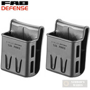 FAB Defense 5.56 Magazine POUCH 2-PACK Belt Paddle 556POUCH