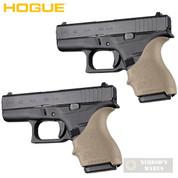 HOGUE GLOCK 42 43 G42 G43 + MORE! GRIP SLEEVE 2-PACK FDE 18203