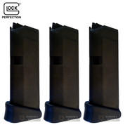 GLOCK 42 G42 MAGAZINE + Finger Extension 3-PACK .380 ACP 6 Rounds 08822