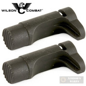 """Wilson Combat 1911 MAG RELEASE 2-PACK Tactical 1/16"""" Extended 31T BLACK"""