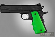 HOGUE 45005 Colt Gov't 1911 ZOMBIE-X Green Grip - Finger Grooves