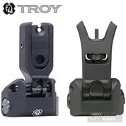 TROY SOCC FRONT + REAR BattleSights Low Profile Folding SSIG-LPF-F0BT-00 SSIG-LPF-R0BT-00