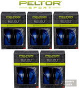 PELTOR Sport Bull's Eye 9 EAR MUFFS 5-PACK NRR 25 dB 97007