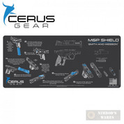 "Cerus S&W M&P SHIELD Instructional ProMat Bench MAT 12"" x 27"""