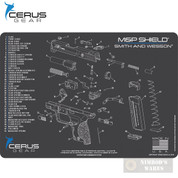 "Cerus S&W M&P SHIELD Schematic Bench MAT 12"" x 17"" HMMPSHLDSCHGRY"