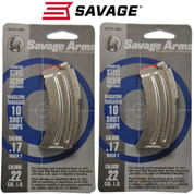 SAVAGE 90008 MKII/900 Series/17 Mach 22LR 10 Round MAGAZINE 2-PACK