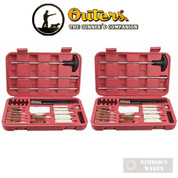 OUTERS Universal Gun Cleaning KIT 2-PACK 28-pc each w/ Hard Cases 70104