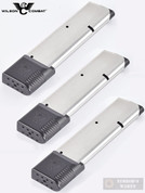 WILSON 1911 .45 ACP 10 Round MAGAZINE 3-PACK Gov't Extended PAD 47-45FS10