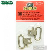 "Uncle Mike's Red Head QD Sling Swivels 1"" Nickel 14052"