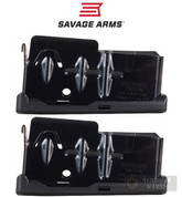 Savage 10FC 11FC 12FCV 10 Predator .243 7mm .260 .308 4 Round MAGAZINE 2-PACK 55105