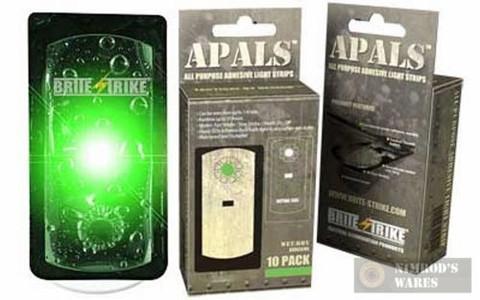 BRITE-STRIKE APALS10-GRN Adhesive Light Strips GREEN x 10 Pk.
