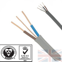 100m 2.5mm 6242Y Grey Twin & Earth Cable Quality Flat Wire BASEC Approved Reel