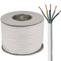 100m Reel White 3185Y 1.0mm 5 Core Round PVC Flexible Cable Wire