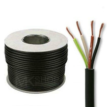 100m Reel Black 3184Y 1.5mm 4 Core Round PVC Flexible Cable Wire