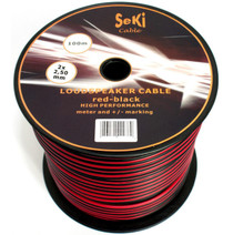 100 Meters 2x 2.5mm Red/Black Twin Speaker Audio Cable Loudspeaker Wire Car Home Hifi