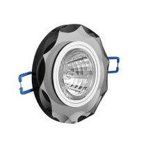 Brillante Round Black Glass Fixed Fitting For Downlight Ceiling Soptlight