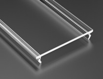 1 Metre Transparent Cover For INSO SOLIS and iLEDO - Profile LED Channel