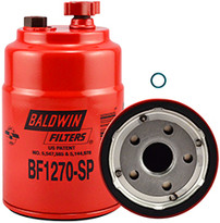 Baldwin BF1270-SP FWS Spin-on with Drain and Sensor Port