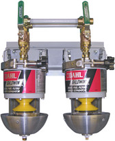 Baldwin 100-MMV Two Marine Diesel Fuel Filter/Water Separators Manifolded with Shut-Off Valves