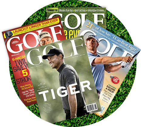 Golf Magazine Collage