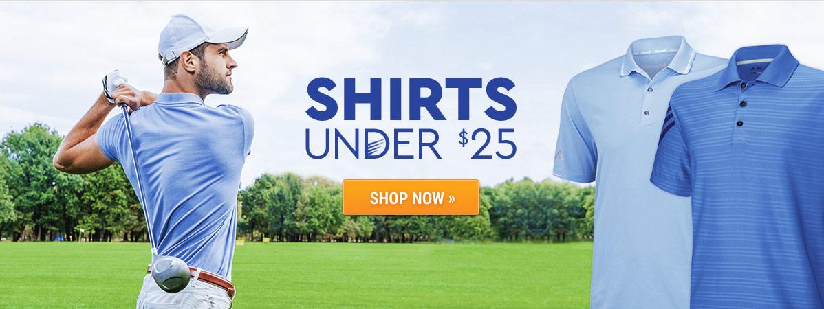 Golf Shirts under $25!