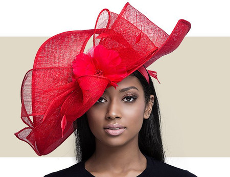 lady diane light pink fascinator hat gold coast couture