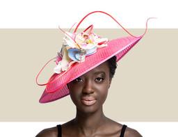Light Pink Window Sinamay Hat