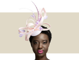FEATHER HEADPIECE - Sweetpea and Peony