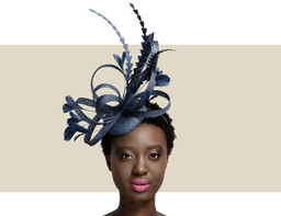 FEATHER HEADPIECE - Navy Blue