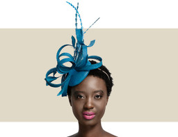 FEATHER HEADPIECE - Teal