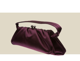 CLUTCH WITH HANDLE - Aubergine