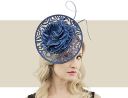 LACE DISC FASCINATOR - Navy