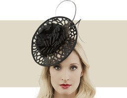 LACE DISC FASCINATOR - Black