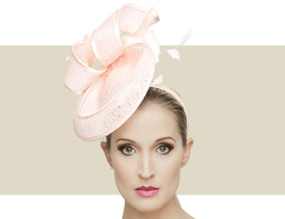 LIZZIE - Pale Peachy Pink with Ivory