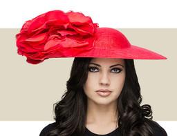 ROSETTE HAT - Red