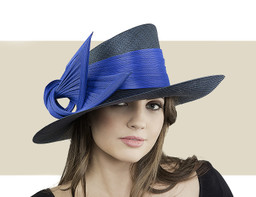 SIDESWEEP HAT - Navy and Cobalt