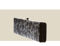 SMALL BOX CLUTCH - Silver Sequin