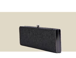SMALL BOX CLUTCH - Black Glitter