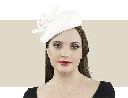 Gina Foster Spencer ivory winter hat