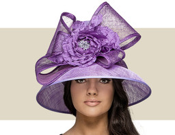 TALL CROWN HAT - Purple