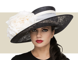 UPTURN HAT - Black and Ivory