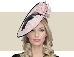 GARDENIA - Pink Peony with Navy