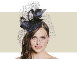 SEQUIN HEADPIECE - Navy