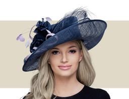 KATIE - Navy with Sweet Pea