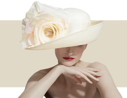 DEEP UPTURN HAT - Ivory