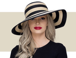 SMALL SUN HAT - Natural and Black